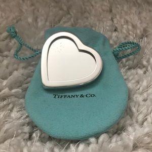 Vintage Tiffany heart compact mirror